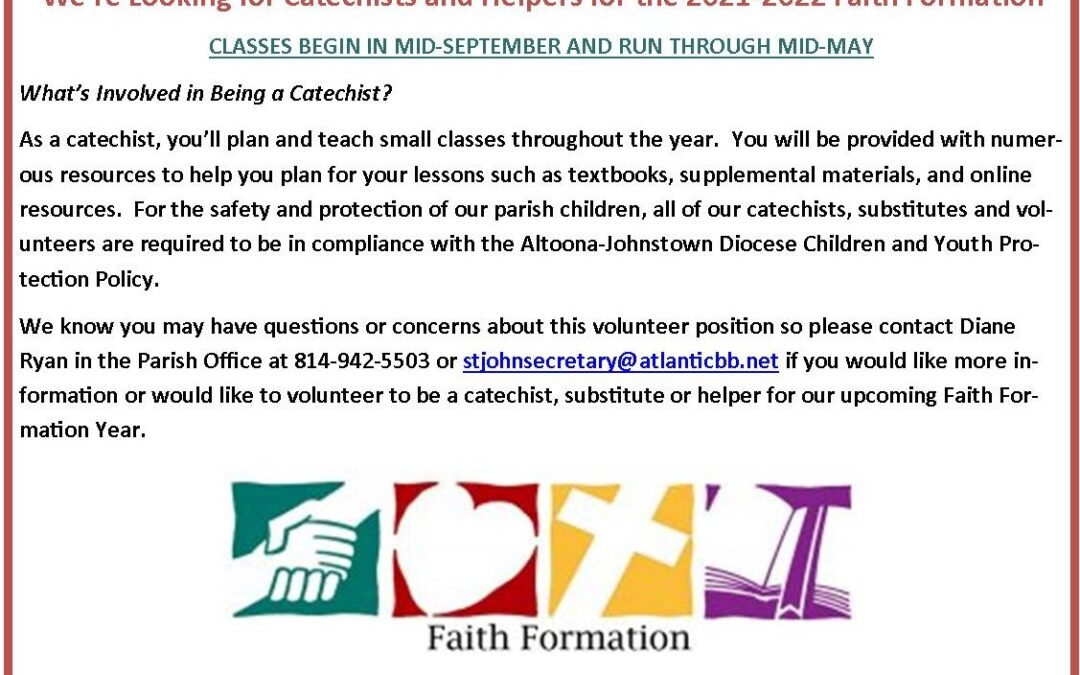 Catechists needed!