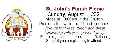Sign Up to Attend Our Parish Picnic on August 1!